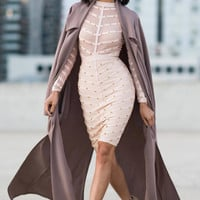 Long Duster Coat - Mauve
