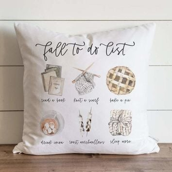 Fall Pillow Cover // Fall To Do List