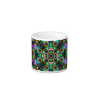 Green and Rainbow Mandala Pattern Espresso Cup