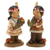 Harvest Bounty Couple Thanksgiving Figurines