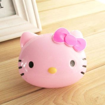 1PCS Cartoon Hello Kitty Glasses Double Contact Lenses Box Contact Lens Case For Eyes Care Container Gift Kit Holder C