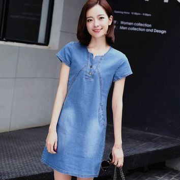 5a8cbf2cc77f5 Best Short Sleeve Denim Dress Products on Wanelo
