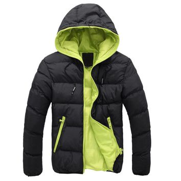 Winter Men Training jacket Coat Sports fitness Long sleeves Hooded slim Soccer basketball Outdoor Exercise Jogging clothes