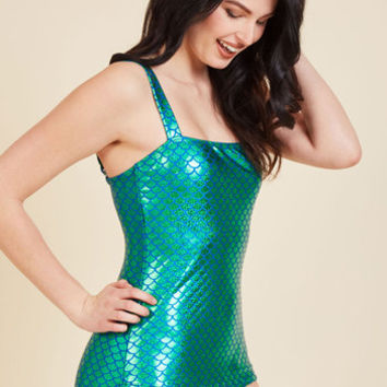 Esther Williams Oceanic Enchantress One-Piece Swimsuit | Mod Retro Vintage Bathing Suits | ModCloth.com