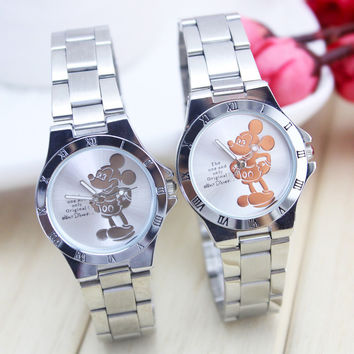 New Design Women Quartz Watch Fashion Mickey Watch Stainless Steel Watch For Girl C087L