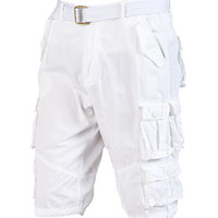 LT TWILL CARGO SHORT - White - DECIBEL