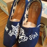 "Custom Sailor Toms Shoes- ""Refuse to Sink"""