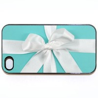 Blue Box with a White Bow Design SLIM iPhone 5C case - White Case