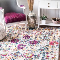 nuLOOM Floral Damask Rosemary Area Rug