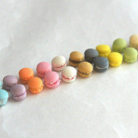 french macaroons stud earrings