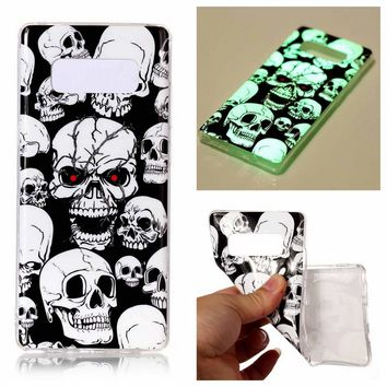Luminous Painting Phone Case for Samsung galaxy Note 8 Glow the Dark