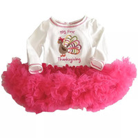 Babies First Thanksgiving Outfit, Babys first thanksgiving Outfit, Baby Thanksgiving Tutu, Bodysuit with tutu