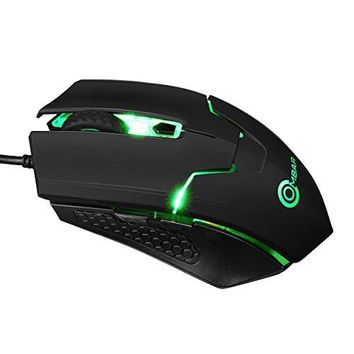 Ombar Gaming Mouse Wired RGB Backlit Optical Mice with 4000DPI, 4 Adjustable Levels for PC, Laptop,Computer