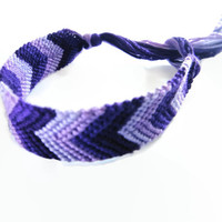 Friendship Bracelet Purple Chevron