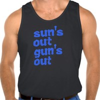 22 Jump Street.. Sun's Out Gun's Out Tank Top