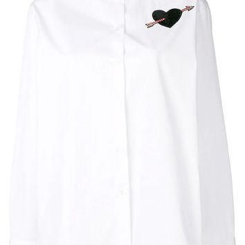 White Formal Arrow Heart Shirt by Valentino