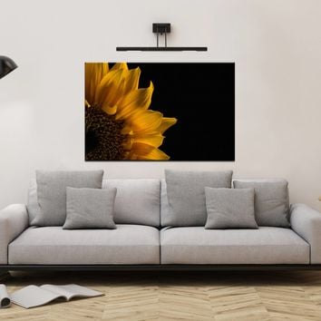 Floral Nature Photograph Sunflower in Corner - Fine Art Canvas - Home Decor Unframed Wall Art Prints