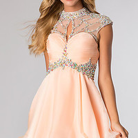 High Neck Short Party Dress from JVN by Jovani