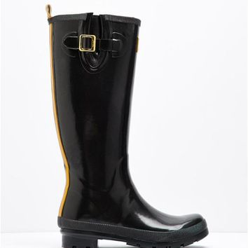 Field wellies Black Glossy Rain Boot Wellies | Joules US