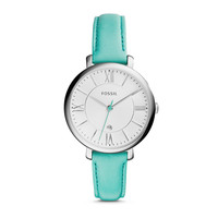 Jacqueline Three-Hand Date Leather Watch - Green