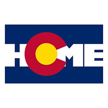 Colorado state flag home bumper stickers pack of 2
