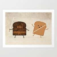Slice! Art Print by Teo Zirinis