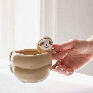Sloth-Shaped Mug | Urban Outfitters