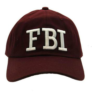 Red Message Fbi Hat And Cap