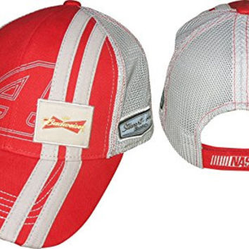 NASCAR Kevin Harvick #4 Budweiser Racing Stripes Mesh Hat / Cap