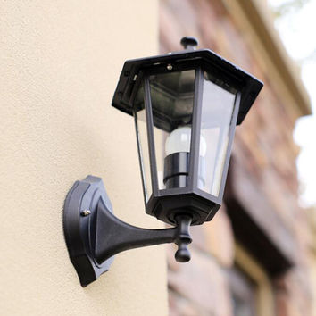 (WECUS) Free shipping European style of the ancient wall waterproof outdoor patio Villa balcony lamp without light source