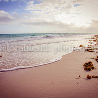 Caribbean Beach Photo Instant Digital Download Fine Art Photography Ocean Sand Beach Sunset Colorful Romantic Warm Cuba