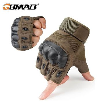 Outdoor Tactical Gloves Military Armed Combat Paintball Airsoft Hiking Hunting Cycling Riding Shooting Knuckle Half Finger Glove