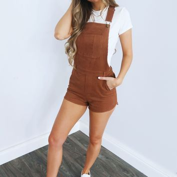 Just As I Am Overalls: Camel