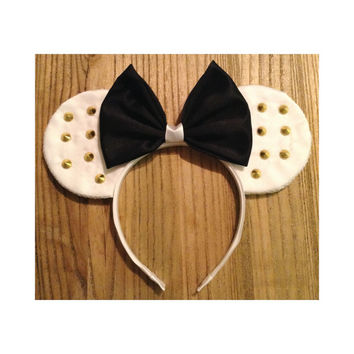 White Studded Mouse Ears