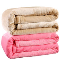 Queen size Plaid Solid color sofa/bedding Throws Flannel Blanket 200*230cm Winter Warm Bedsheet