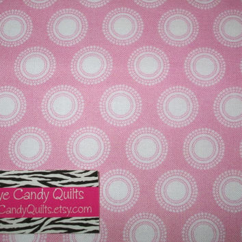 Pink with White Dots fabric, Pink and White, Cotton Fabric, Quilting fabric, Fat Quarters, Half yard or 1 yard cuts