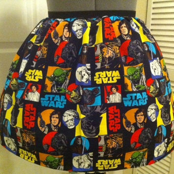 Licensed Star Wars fabric full skirt  made by NerdAlertCreations