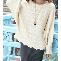 Aliexpress.com : Buy Knitting Women Fashion Round Neck Bat Sleeve New Korean Autumn Style Casual Simple Loose Sweater One Size FLC3086 2166 45 from Reliable sweater color suppliers on eFoxcity Wholesale