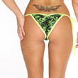 New Marijuana Print Scrunch Bikini Bottom Marijuana Clothing
