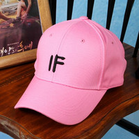 Cute Embroidered IF Baseball Hat embroidered cap