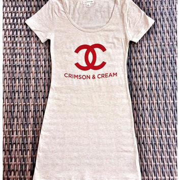 Crimson & Cream Chanel t-shirt dress
