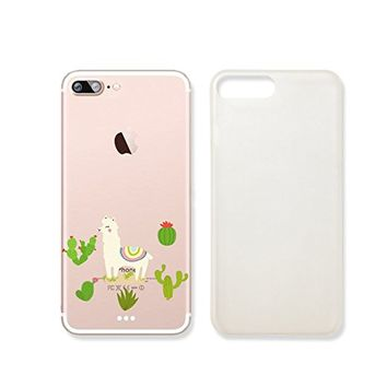 Cute Llama And Cactus Clear Transparent Plastic Phone Case Phone Cover for Iphone 7_ SUPERTRAMPshop (iphone 7)