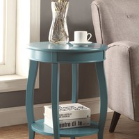 Affiable Side Table, Teal Blue By ACME