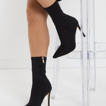 Dashar Boot - Black Lycra