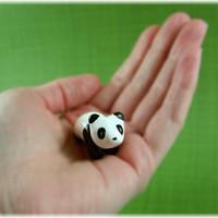 Motion Panda  Hand Sculpted Miniature by MadeWithClayAndLove