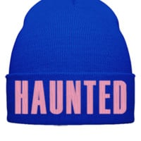HAUNTED Beanie - Beanie Cuffed Knit Cap