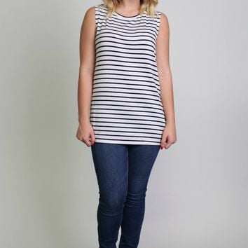 Piko 1988 Striped Muscle Tanks