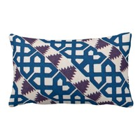 Moor African Arabic Pattern Design Blue Purple Throw Pillows