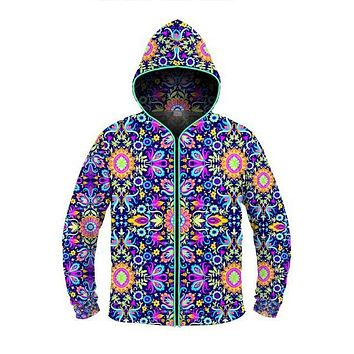 Floral Trip - Light Up Hoodie