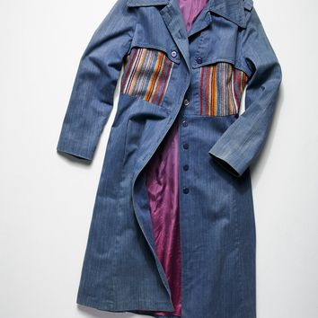 Free People Vintage 1970s Denim Duster Coat